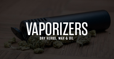 A banner labelling vaporizers
